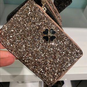 Kate Spade Odette Rose Gold L Zip Card Holder